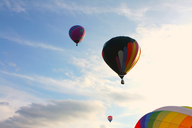 Hot air balloons drift away at Waterford Balloonfest
