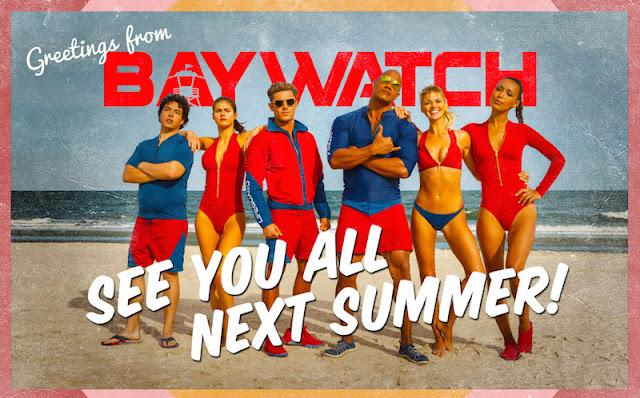 Los vigilantes de la playa mandan una postal promocionando 'Baywatch'