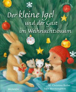 Cover von M. Christina Butler - Der kleine Igel und der Gast im Weihnachtsbaum