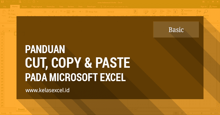 Cara Cut Copy Paste di excel