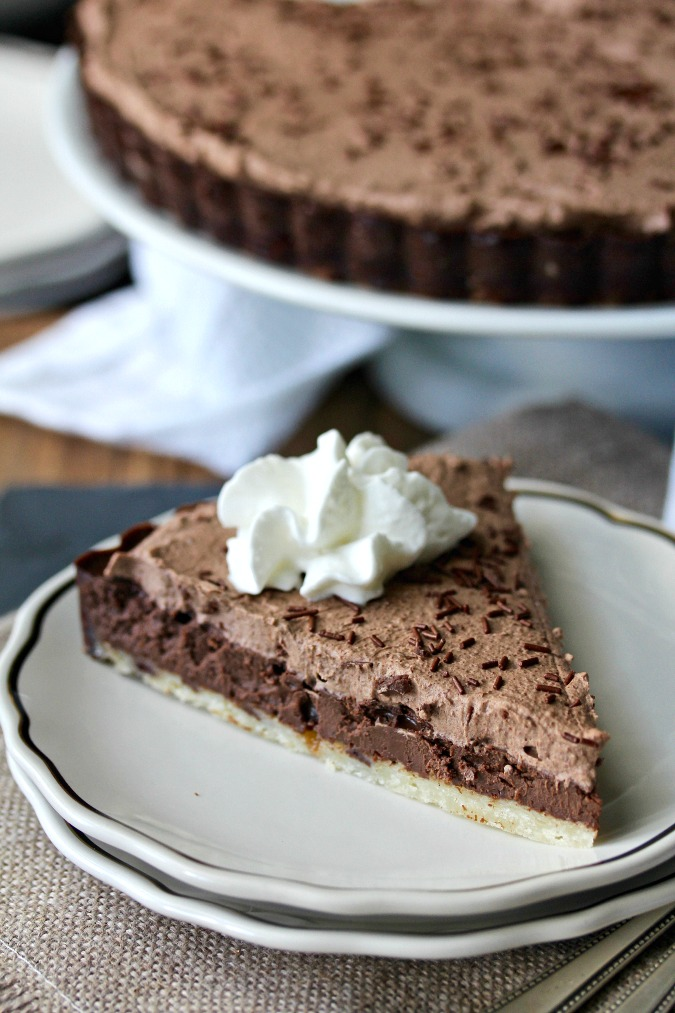 Chocolate Tart with a Shortbread Crust