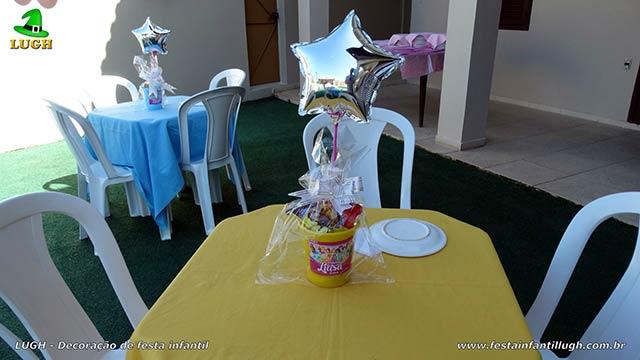 Enfeites de centro de mesas - Decoração infantil A bela e a Fera