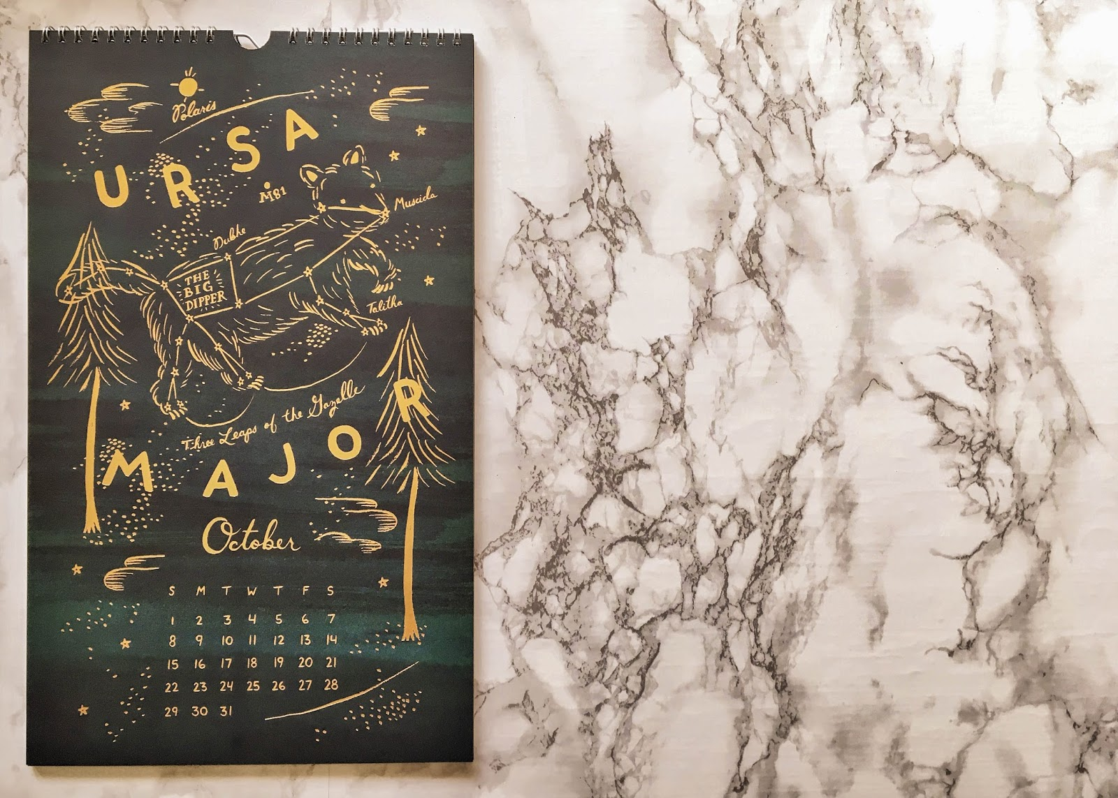 rifle paper company constellations calendar october