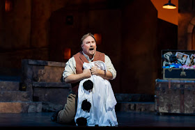 IN REVIEW: tenor CARL TANNER as Canio in North Carolina Opera's January 2020 production of Ruggero Leoncavallo's PAGLIACCI [Photograph by Eric Waters, © by North Carolina Opera]