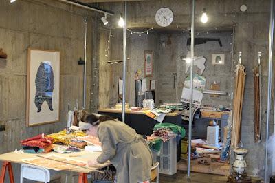東京つつじヶ丘のオリジナルの染布制作 kata kata アトリエ