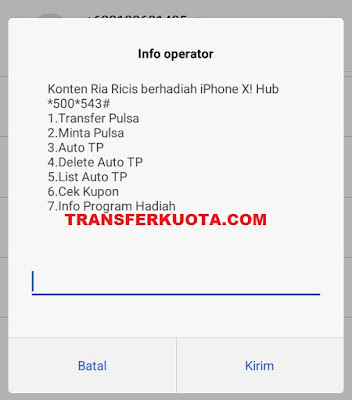 cara transfer pulsa dari telkomsel ke indosat im3