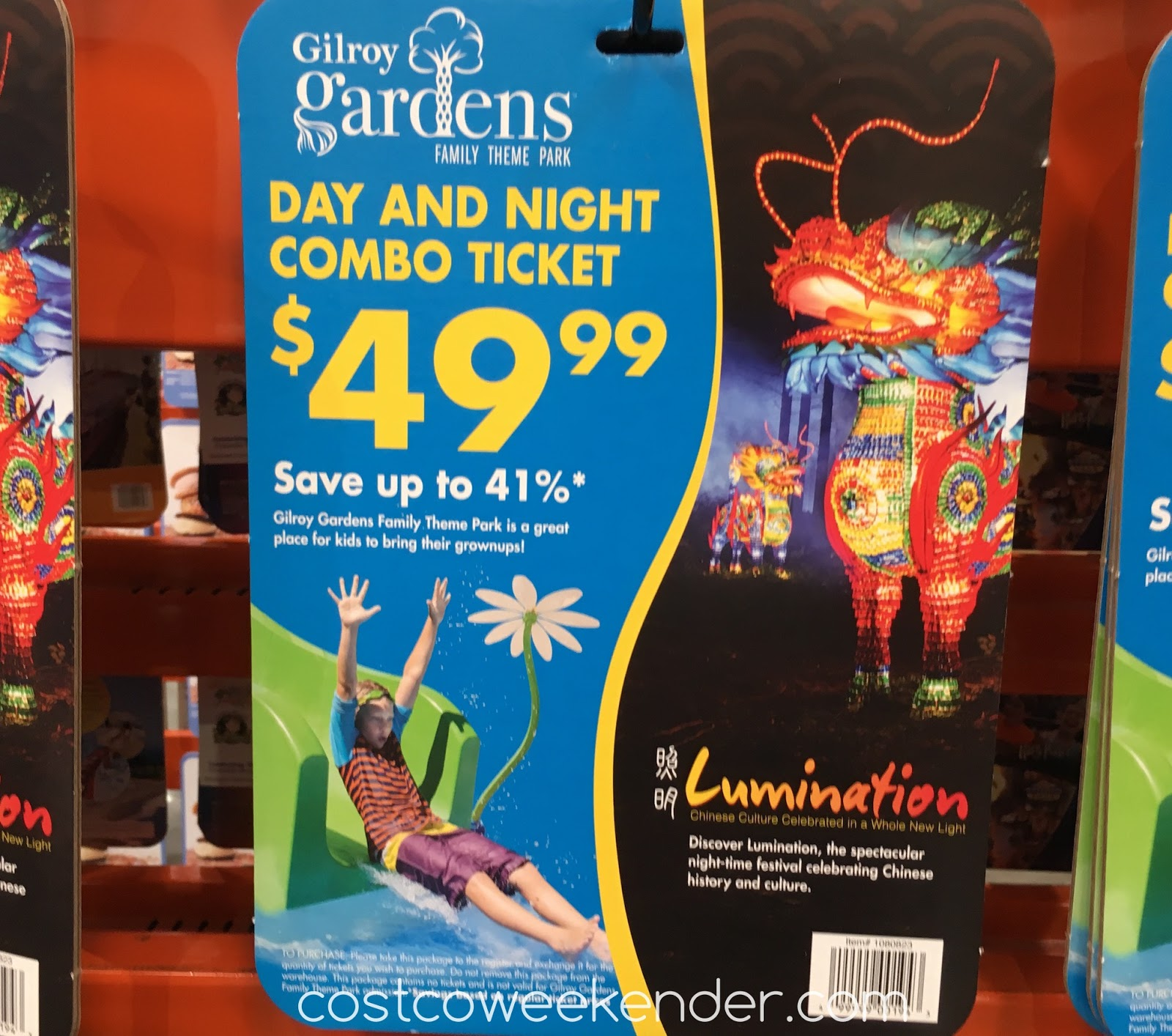 Gilroy Gardens Lumination Day And Night Combo Ticket 2016 Costco Weekender
