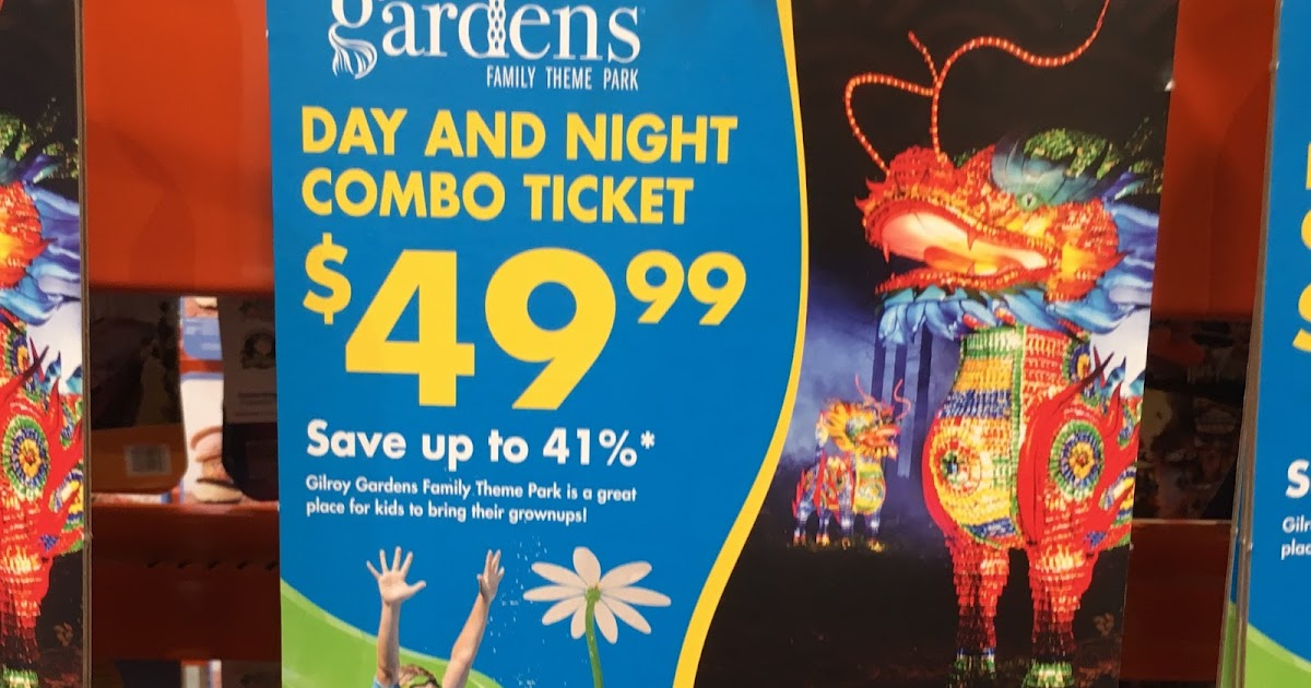 Gilroy Gardens Lumination Day And Night Combo Ticket