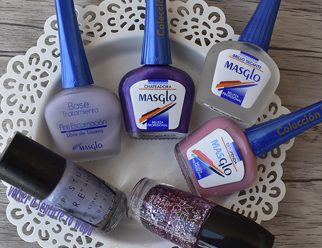 Esmaltes de Masglo, Make Up Store y Wet n' Wild