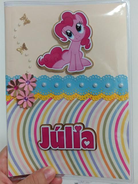 Capa para carteira de vacinação My Little Pony