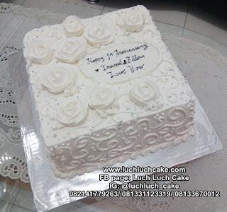 Wedding Anniversary Kue Tart Putih
