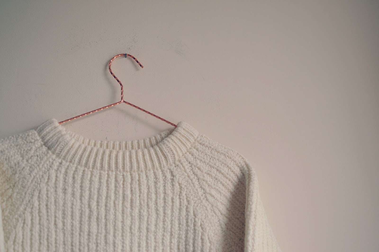 vintage cream knitted jumper