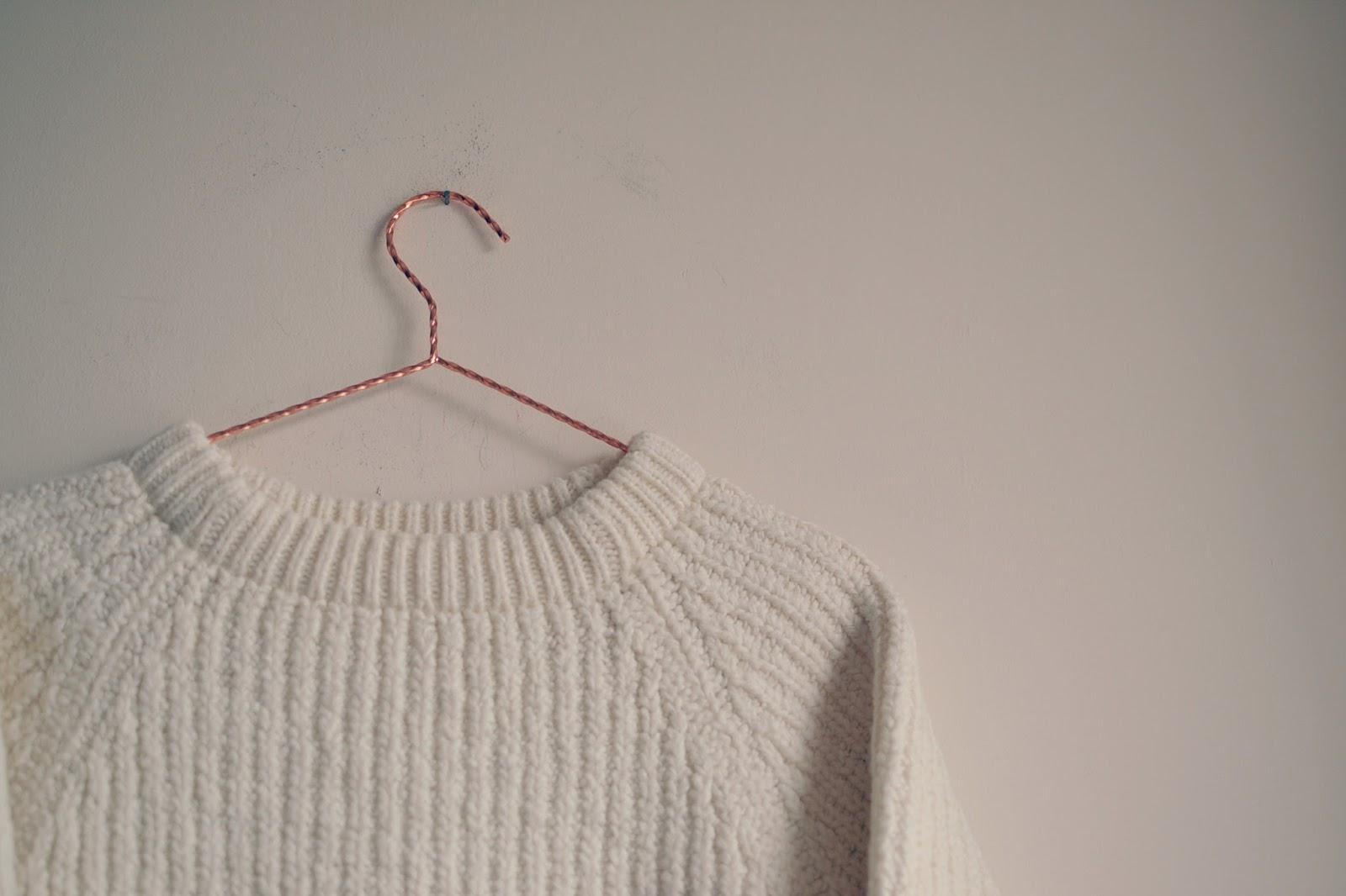 vintage cream knitted jumper