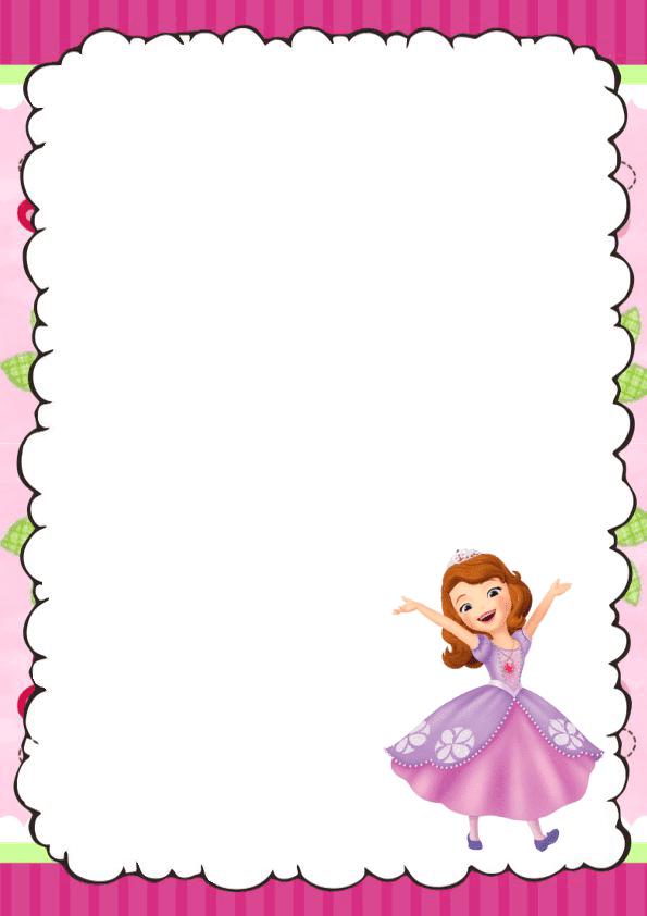 Bonita caratula para cuaderno de princesita sofia