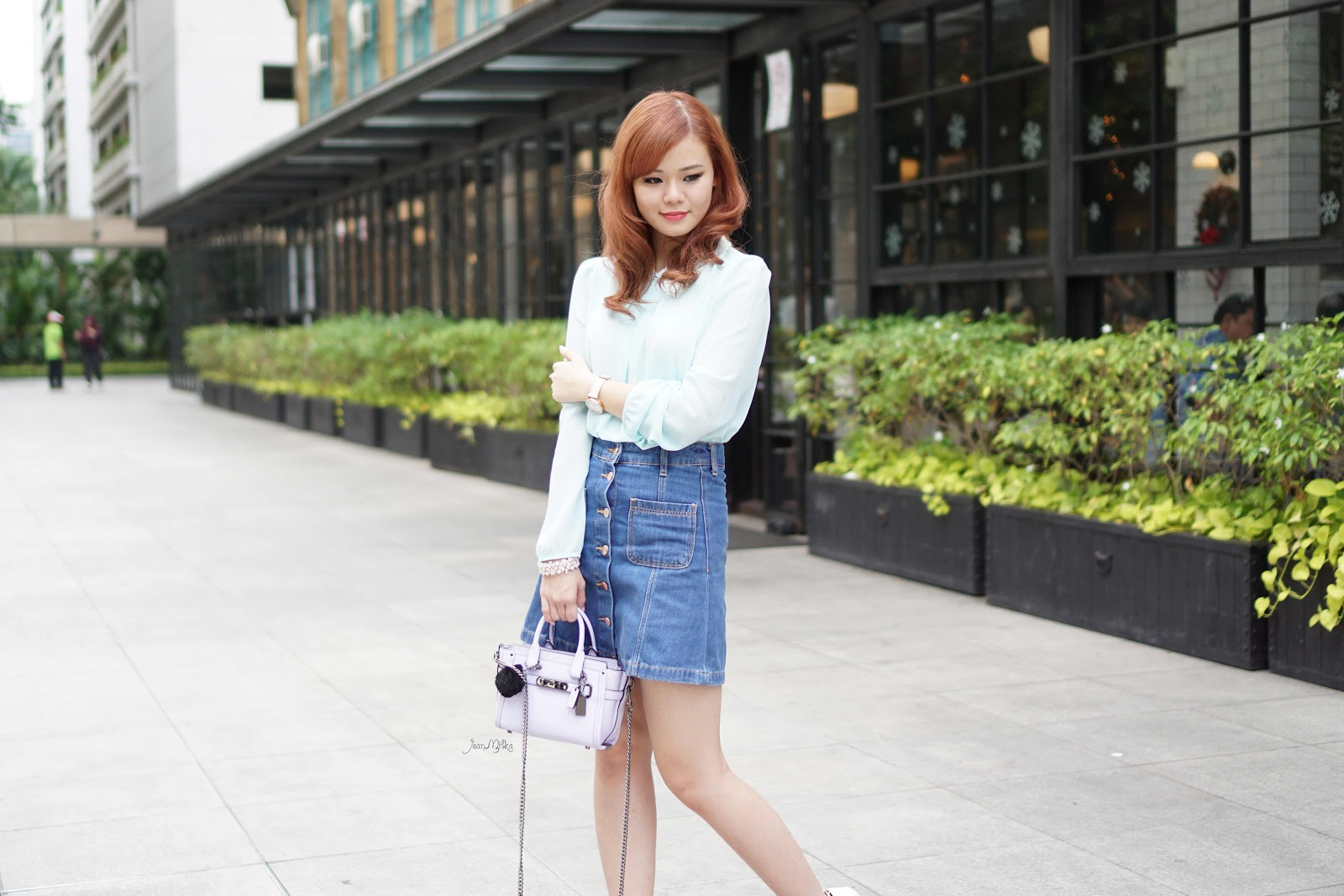 Outfit Of The Day Denim Pastel Jean Milka Ootd Jean