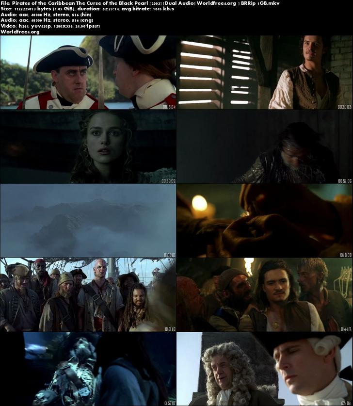 Pirates of the Caribbean The Curse of the Black Pearl 2003 BRRip Dual Audio 720p Download
