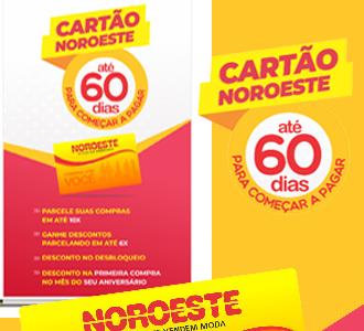 CARTÃO NOROESTE - RÁPIDO E FÁCIL