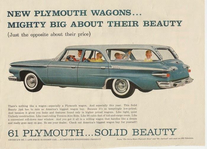 1961 Plymouth station wagon full ad