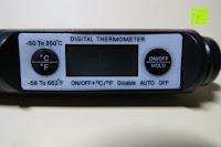 Display: GHB fleischthermometer bbq thermometer Digitales Universales Haushaltsthermometer für BBQ Fleisch Steak Braten Jam Wein Steak Schwarz ca. 11.5 cm