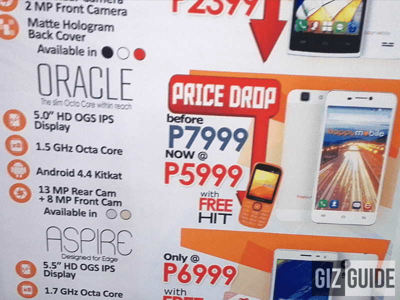 Happy Mobile Oracle Gets A Price Cut, Down To Just 5,999 From 9,999 Pesos!