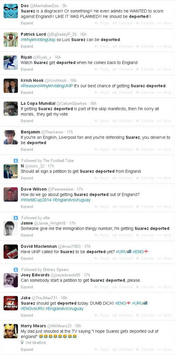 Madness! Angry England fans want Luis Suárez deported after scoring against them