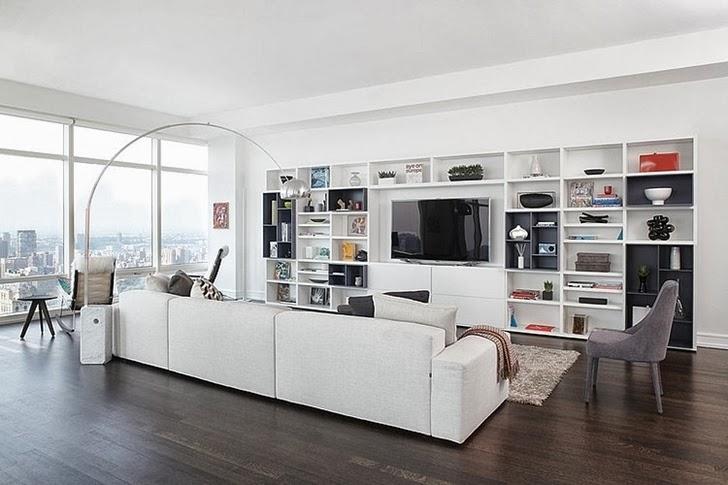 Living Room In Modern Apartment By Tara Benet New York