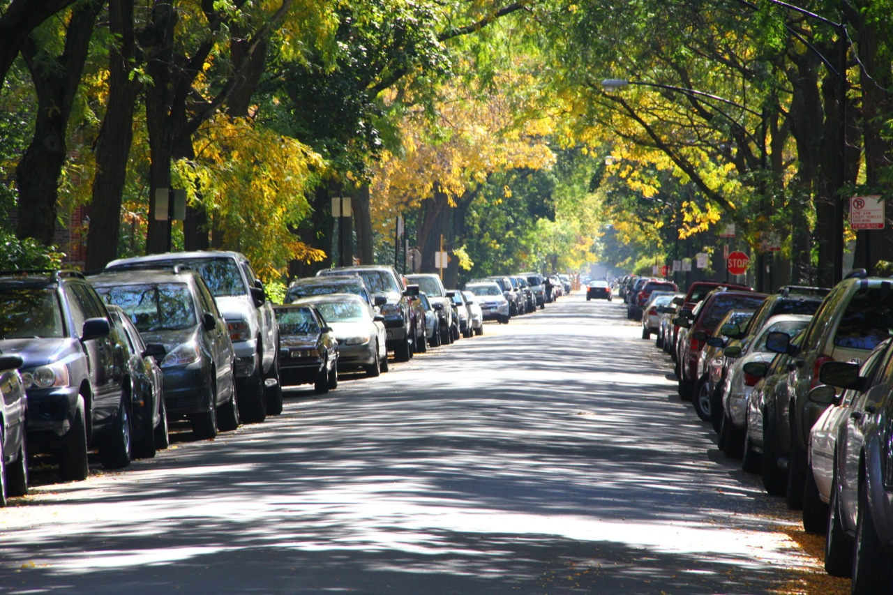 bike walk lincoln park linear parking lots is this the best we can do for our streets. Black Bedroom Furniture Sets. Home Design Ideas