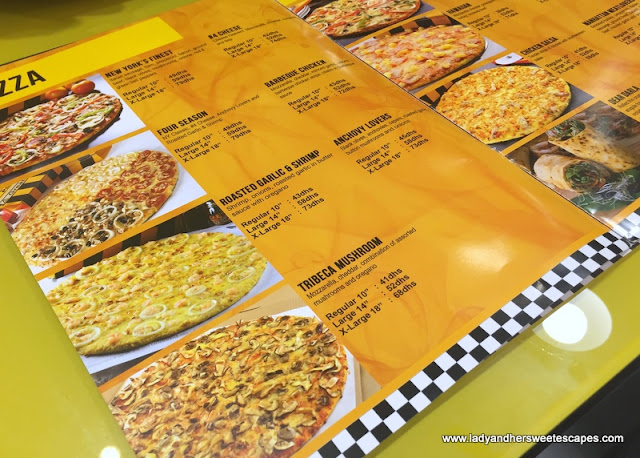 Yellow Cab Dubai Pizza Menu