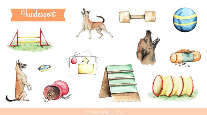 "Illustrationen für Hundeblogger - Grafik-Set ""Hundesport"""