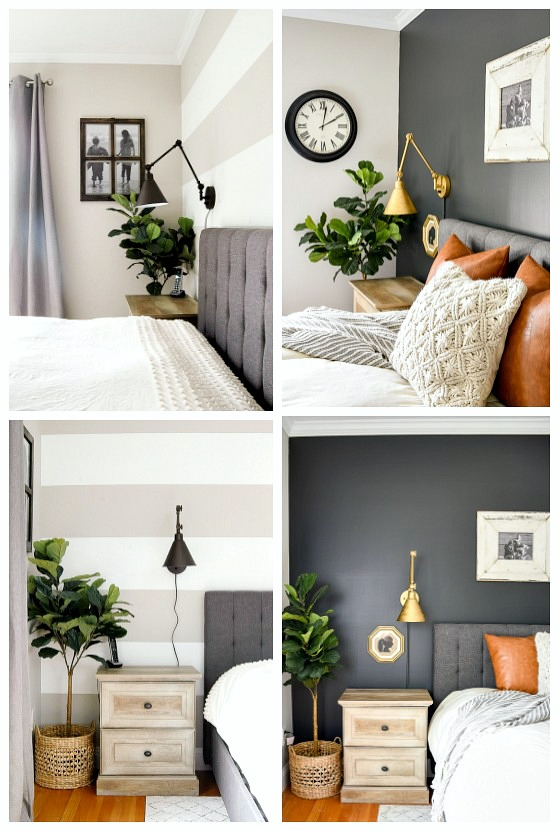master bedroom farmhouse makeover, high contrast, dark and moody, sherwin-williams iron ore