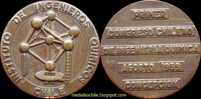 Medalla Primer Congreso de Ingenieria Quimica