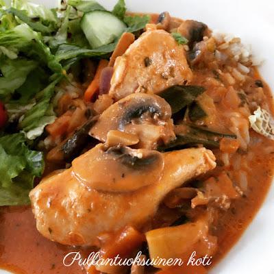 #broileriruoka #kanaruoka #kanakastike #broilerikastike #herkkusieniä #chickensauce #chickencasserole #foodideas #whatsfordinner #foodrecipe #recipe