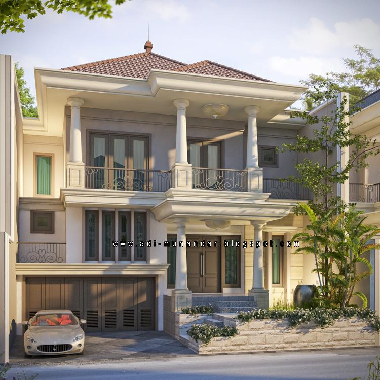 arsitektur rumah konsep klasik moderen di surabaya