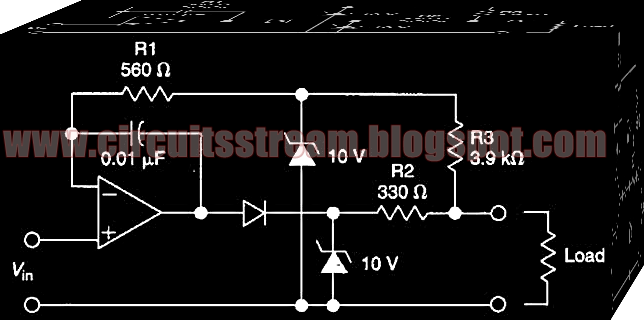 protected Simple Intrinsically Safe Op Amp Circuit