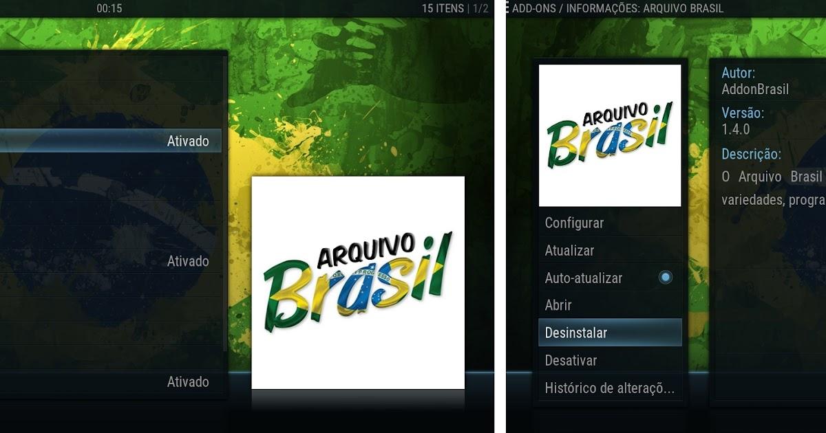 Resultado de imagem para Como atualizar o Addon Arquivo Brasil