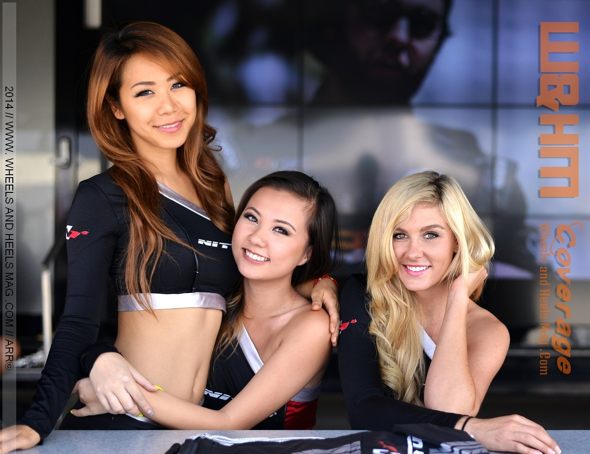 2014 Formula Drift Irwindale Nitto Models at the lifestyle expo vendor