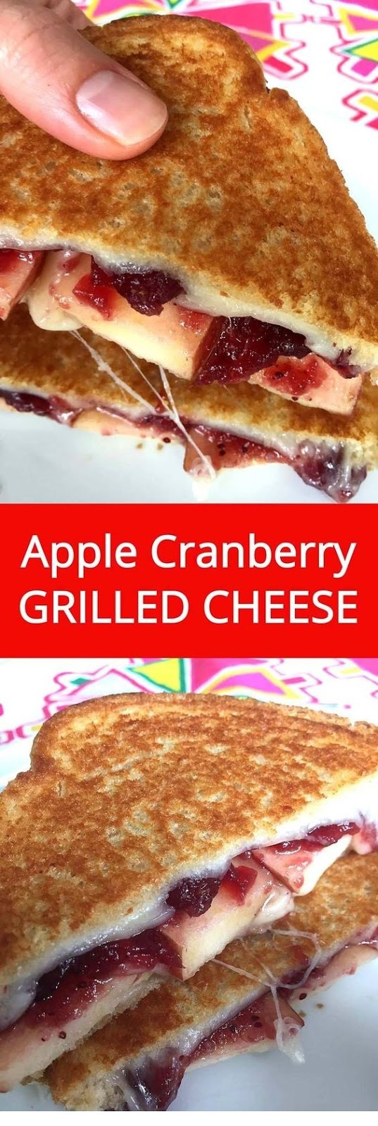 Apple Cranberry Grilled Cheese Sandwich Recipe