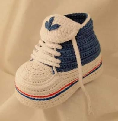 wzory botów szydełkowych dla dzieci