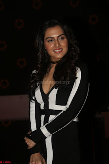 Ananya Soni in a Deep neck white blackl Dress at Shamanthakamani pre release function ~  Exclusive 071.JPG