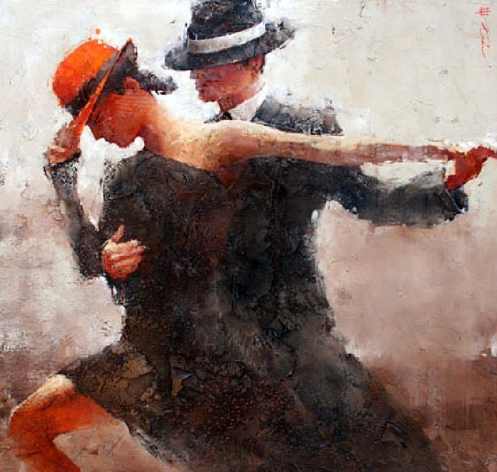 Andre Kohn 1972 | Russian-born Figurative Impressionist painter | Ladies and hats