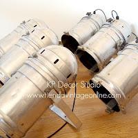 Focos vintage aluminio estilo industrial. venta de focos de cine antiguos