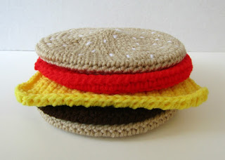 Cheeseburger Potholder Set in Crochet on Etsy