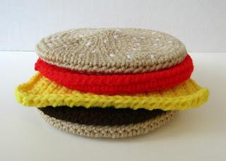 Cheeseburger Potholder Set in Crochet on Etsy