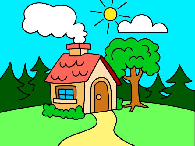 كيفية رسم منظر طبيعي سهل رسم منظر طبيعي سهل للاطفال