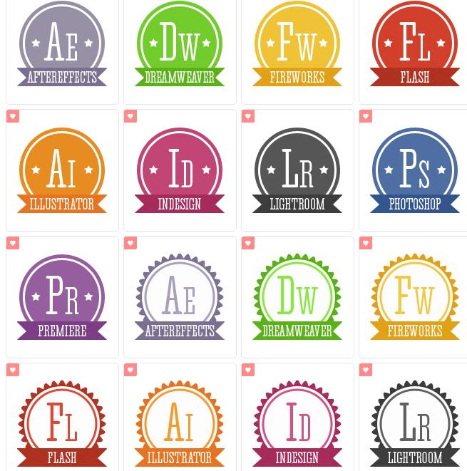 18 iconos PNG retros de Adobe gratis | Recursos Diseño Gráfico |