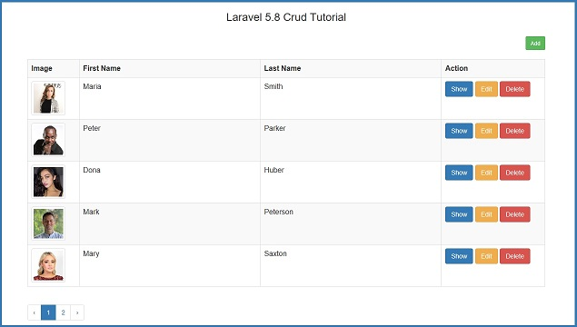 Step by Step CRUD Operation in Laravel 5.8 with File Upload