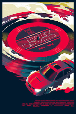 Baby Driver Movie Poster Variant Screen Print by Matt Taylor x Mondo