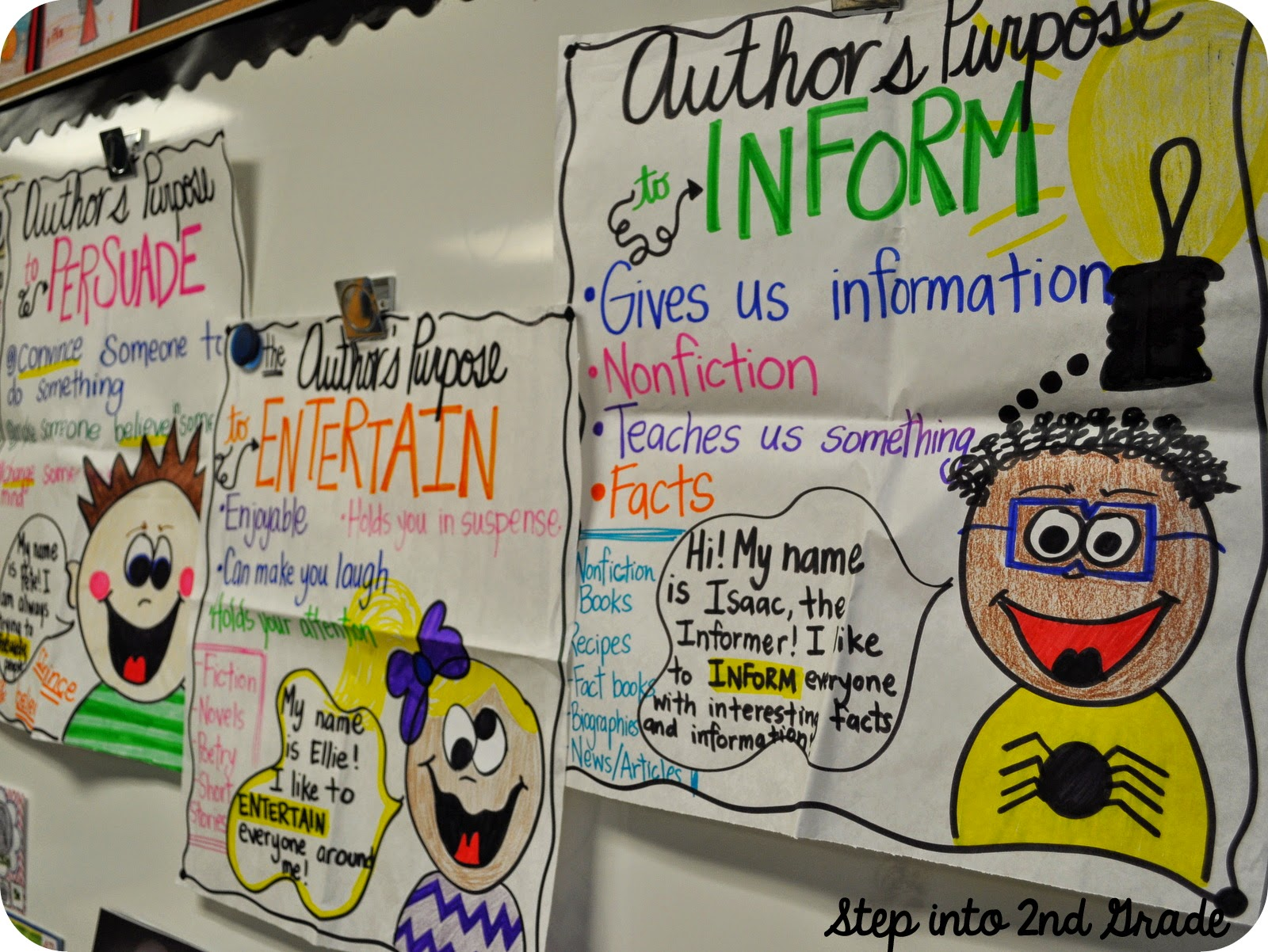 Step Into 2nd Grade With Mrs Lemons Author S Purpose