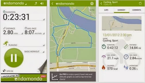Endomondo en el top android