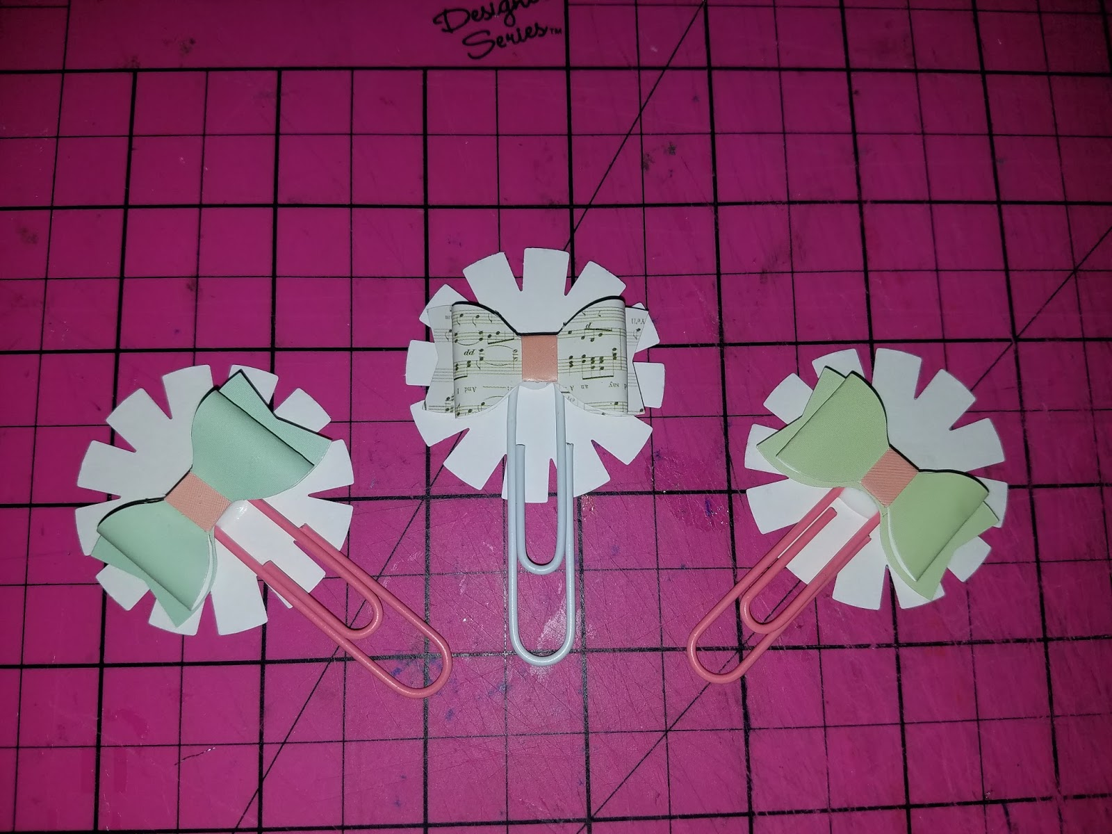 Scrapbook paper dollar general -  Bow Stickers From The Dollar Store Paperclips From Dollar General And A Punch To Make The Backing For The Embellishment I Hope You Enjoy It As Much As